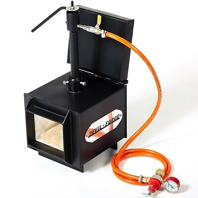 """DFPROF1+1D 2"""" Gas Propane Forge for Knifemaking Farriers Blacksmiths Furnace"""