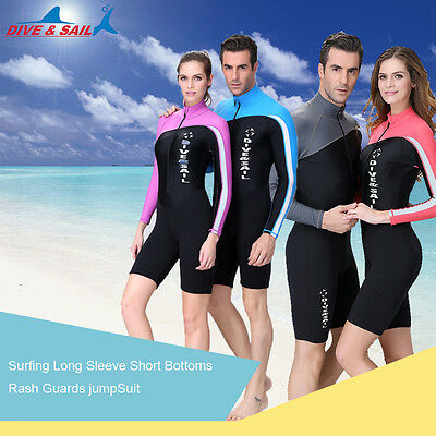 1.5mm Neoprene Rash Guard diving suits surfing Lycra swimming Jumpsuit Swimwear