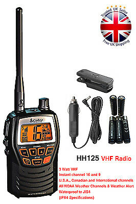 Cobra MR HH125 Handheld VHF Marine LCD Radio for Boat Vessel Yacht