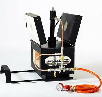 DFPROFK1 GAS PROPANE FORGE Furnace Burner Knife Making Blacksmith Farrier