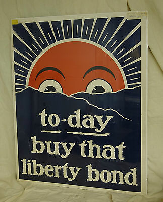 WWI Poster To-day Buy That Liberty Bond