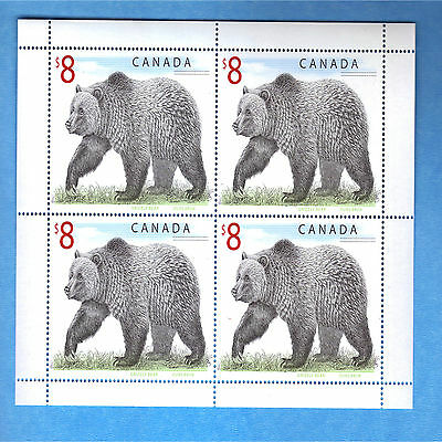 Canada Stamps Sheet MintCond.1997 Wildlife Definitives Grizzly Bear Scott*1694