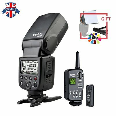 Godox V860C E-TTL Li-ion Battery Flash for Canon + FT-16S Wireless Trigger+gift