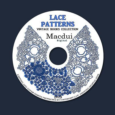 Lace Patterns,Bobbin Lace,Pillow Lace – Vintage e-books 6 Volumes PDF on 1 DVD