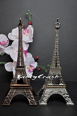 1 Brown Silver Eiffel Tower Prop Stand Wedding Cake Topper Table Display Stand