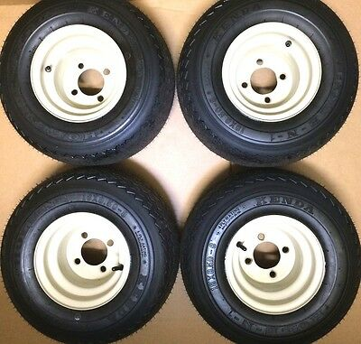 NEW Set Of 4 Tires and Wheels For Golf Cart Carts Club Car, Yamaha, EzGo, Star,
