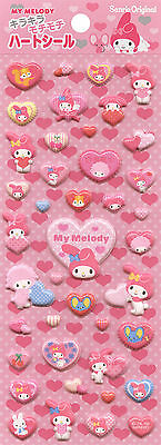 "Sanrio My Melody ""Heart"" Sponge Stickers (2009)"