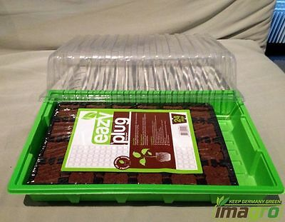 Easy Plug Cuttings Tray 24 pc Cultivation Bowl Indoor greenhouse Grow Seedlings