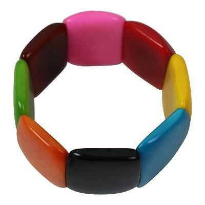 New Tagua Bracelet From Ecuador Multi Colour Discs Fair Trade Eco Friendly