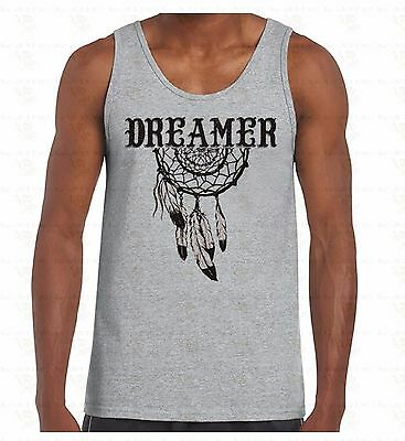 Dreamer Dream Catcher Men's Tank Top Native American Feathers Indian TankTOP
