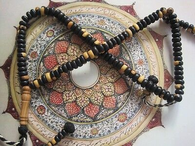 Islamic Prayer Beads - Ebony - Tasbih Komboloi Worry Beads -alshifaa