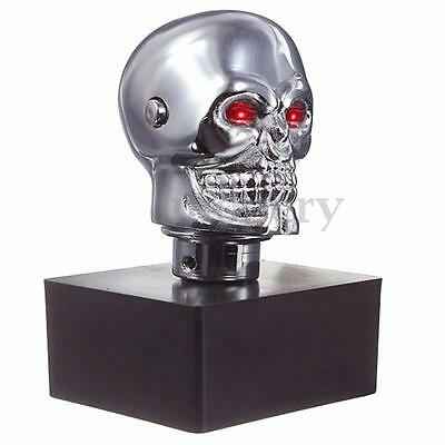 Universal Auto Car Red LED Skull Head Manual Gear Stick Shift Knob Lever Shifter