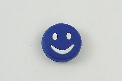 *NEW* 1xWILSON Fun Smiley Dämpfer Vibration Dampener shield trap blau Shock blue