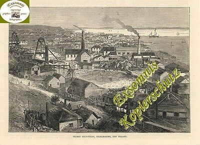 Stich -1875 - Gold - New Zealand - Gold Fields Grahamst