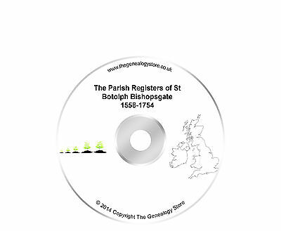 The Parish Registers of St Botolph Bishopsgate 1558-1754