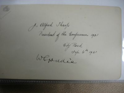 Alfred Sharp 1921 Signature - Bible
