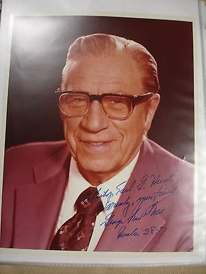 George Beverly Shea 20th Century Signed Photo - Bible
