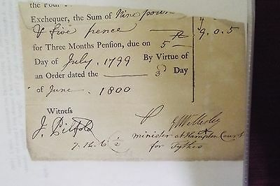 Jerald Valerian Wellesley 1800 Signed Document
