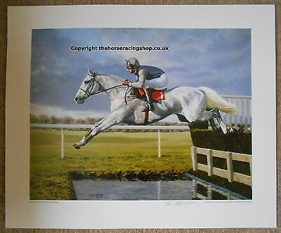 Desert Orchid 'The Flying Grey' Roy Miller Fine Art LE Horse Racing Picture