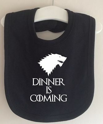 Dinner Is Coming Game Of Thrones Inspired Winter Is Coming Baby Bib Dribble