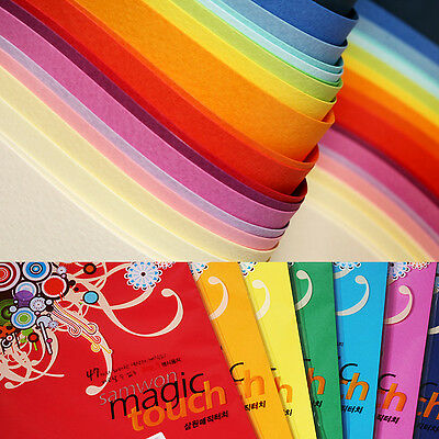 A4 Single Side Embossed Coloured Paper Craft Card Making 180gsm - 43 Colors