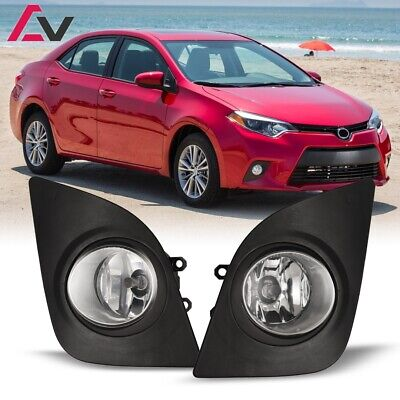 14-16 For Toyota Corolla Clear Lens Pair OE Fog Light Lamp+Wiring+Switch Kit DOT