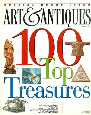 1997 Art & Antiques Magazine: Debut Issue - 100 Top Treasures