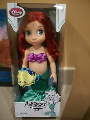 """Disney Animators' Collection 16"""" Toddler Doll Princess Ariel With Pet - NEW!"""