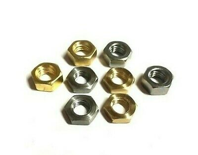 BA brass / steel hexagon full nuts 6BA 4BA 2BA OBA