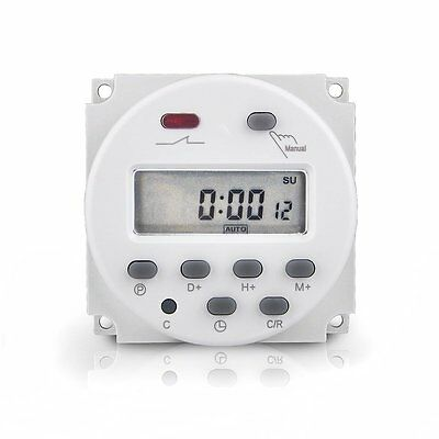 Cn101A LED Digital Power Programmable Electronic Timer Switch AC / DC 12V 16A
