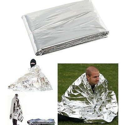 2x Emergency Survival Blanket Waterproof Foil Thermal First Aid for Camping