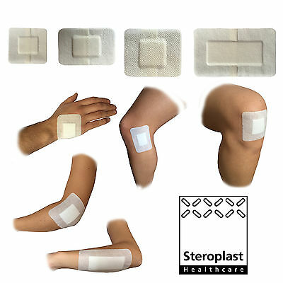 Premium Medical Grade 100% Sterile Large Wound Cut Burn Dressings Plasters White
