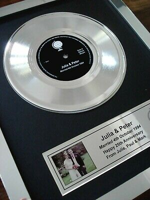 """Your Own Personalised 7"""" Platinum Disc Single Record Award Presentation"""