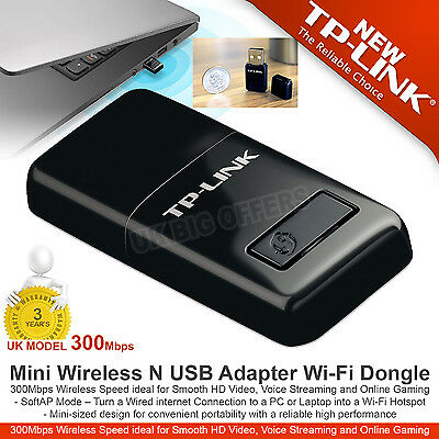 TP-LINK  Mini Wireless N USB Adapter Wi-Fi Dongle 300Mbps TL-WN823N High Speed