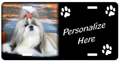Shih Tzu #2   Personalized Automobile  License Plate