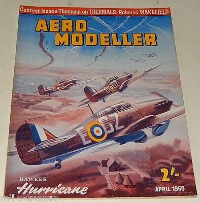 AERO MODELLER April 1960 Plan HAWKER Hurricane Mks + PARAGON + PANDORA