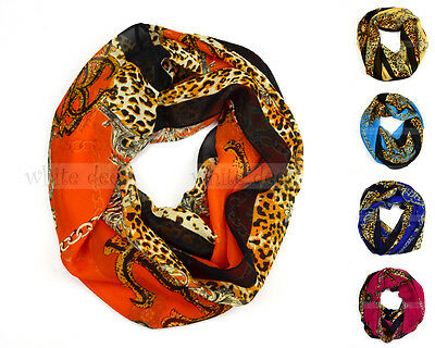 Chain Floral Anchor Leopard Print Circle Loop Infinity Scarf Spring Summer