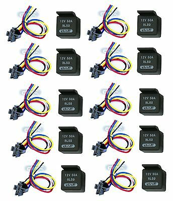 Phenomenal 10 Pair 50 Amp 12V Bosch Style Relay Harness Socket Spdt 100 Wiring Digital Resources Spoatbouhousnl