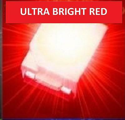 50 x ULTRA BRIGHT RED 1210 3528 SMD SMT PLCC-2 SURFACE MOUNT ULTRA BRIGHT LEDS