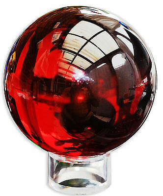Crystal Balls 100Mm Handmade In Red - Beautiful Selection Stunning Colour Ball
