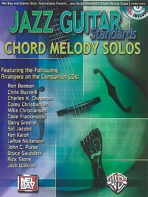 Chord Melody Solos Adanced Jazz Standards Guitar Licks Songs Tab Book CD 2 cds