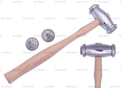 Texturing Hammers Dual Sided Wide Circles/ Dots Jewellery Metal Smith REPOUSSE