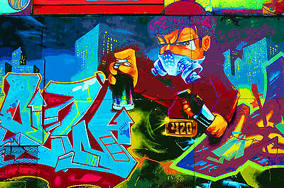 Stunning Pop Art Graffiti Urban Street Art Canvas #704 Quality Abstract Picture