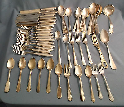 Silverplate and Stainless Flatware Mixed Crafts Lot - Various Makers and Pattern