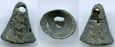 Mysterious authentic ancient bronze Celtic Bell Money (7th-5th c. BC), Europe