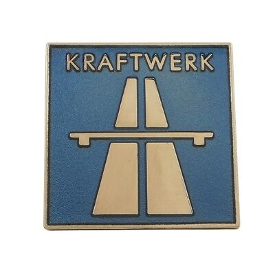 Kraftwerk Autobahn Cloisonne Pinback Button / Badge Pin (Limited Edition of 300)