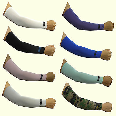 Sun Block Cooling Compression Stretch Arm Sleeve Athletic Covers 8 colors