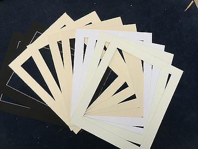 Pack of 10 Photo / Picture Mounts - Various Sizes and Colours Available