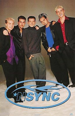 NSYNC Poster - Group Portrait Standing - Vintage NEW - 7533 - FREE SHIPPING