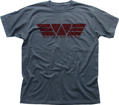 WEYLAND Corporation Corp YUTANI ALIENS PROMETHEUS grey t-shirt HG9868